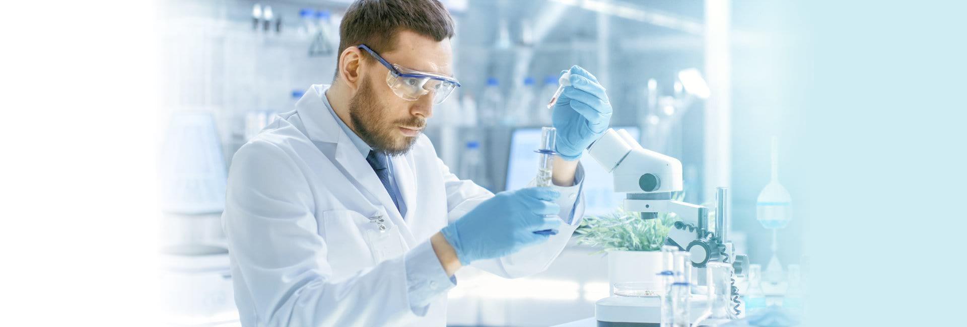 pharmacist compounding a medicine