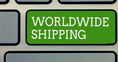 Word writing text Worldwide Shipping